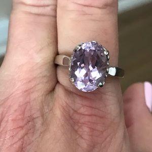 Large Genuine Amethyst Ring